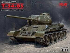Soviet Medium Tank T-34/85 model ICM 35367 in 1-35
