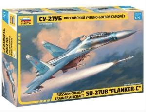 Model Soviet fighter Su-27UB Flanker-C Zvezda 7294