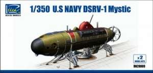 U.S. Navy DSRV-1 Mystic, Model Kits x2 in 1-350 Riich Models RN28009