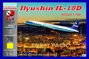 Ilyushin IL-18D PLK in scale 1-144