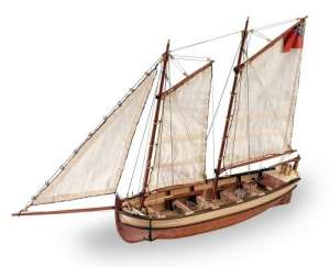 Wooden Model Ship Kit - Longboat of HMS Endeavours 1/50 - Artesania 19015