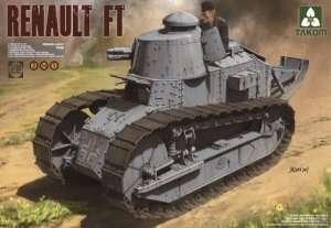 Renault FT French Light Tank in scale 1-16