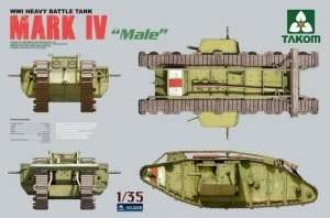 Tank Mark IV Male in scale 1-35 Takom 2008