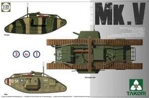WWI Heavy Battle Tank Mk.V in scale 1-35