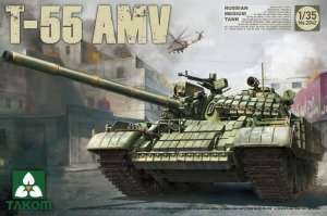 Russian Medium Tank T-55 AMV in scale 1-35 Takom 2042