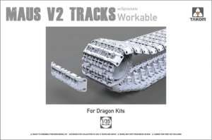 Maus V2 Tracks with sprockets for Dragon kits - scale 1-35