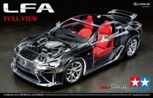 Full View Lexus LFA model Tamiya 24325 in 1-24