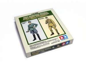 WWII Wehrmacht Officer and Africa Corps Tank Crewman in scale 1-35