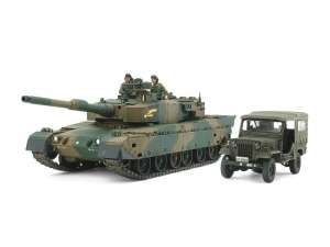 JGSDF Type 90 Tank and Type 73 Light Truck Set model Tamiya