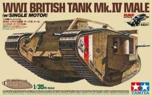 Tamiya 30057 WWI British Tank Mk.IV Male z silniczkiem