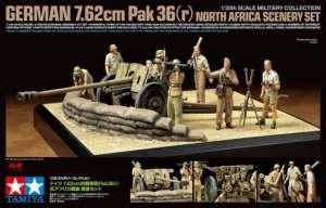 Tamiya 32408 German 7.62cm Pak36 (r) North Africa Scenery Set
