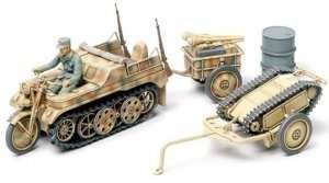 Kettenkraftrad w/Infantry cart & Goliath in scale 1-48