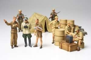 WWII German Afrika Korps Infantry Set in scale 1-48