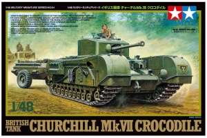 British Tank Churchill Mk.VII Crocodile in scale 1-48