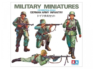 German Army Infantry model Tamiya 35002 in 1-35