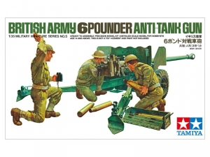 British Army 6-Pounder Anti-Tank Gun Tamiya 35005 in 1-35
