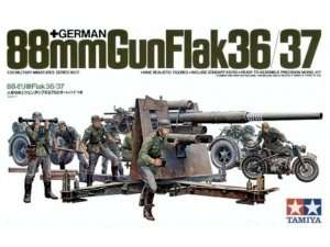 German 88mm Gun Flak 36/37 in scale 1-35 Tamiya 35017