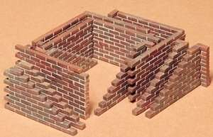 Brick wall set in scale 1-35