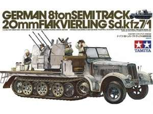 German 8-Ton Half-Track Sd.Kfz.7/1 in scale 1-35