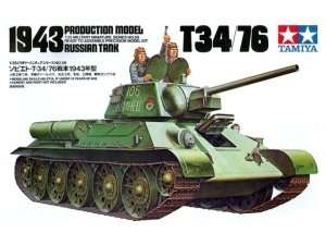 Russian T34/76 1943 Production Model in scale 1-35