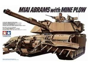 Model U.S. M1A1 Abrams with Mine Plow scale 1-35