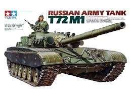 Russian Army Tank T72M1 in scale 1-35
