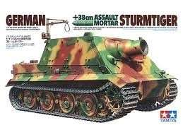 German 38cm Assault Mortar Sturmtiger model Tamiya in 1-35