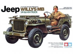 US Jeep Willys MB 1/4 Ton Truck model Tamiya 1-35