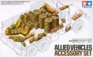 Allied Vehicles accessory set in scale 1-35 Tamiya 35229
