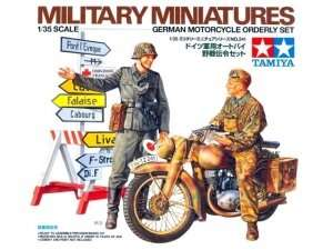 German Motorcycle Orderly Set model Tamiya in 1-35