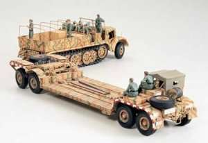 German 18 Ton Heavy Half-Track Famo and Tank Transporter in scale 1-35