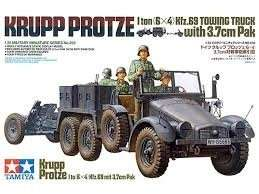 Krupp Protze 1 ton (6x4) Kfz.69 Towing Truck with 3.7cm Pak in scale 1-35