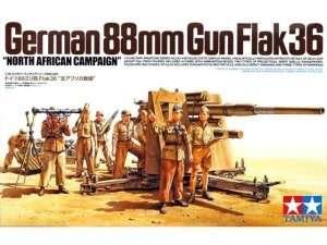 German 88mm GUN Flak36 North African Campaign in scale 1-35