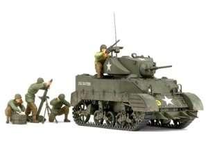 Tamiya 35313 U.S. Light Tank M5A1 Pursuit Operation Set