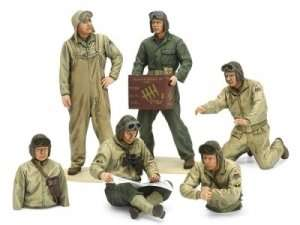 US Tank Crew Set European Theater in scale 1-35 Tamiya 35347