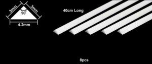 Plastic beams 3mm Triangle 8pcs.