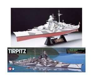 German Battleship Tirpitz in scale 1-350
