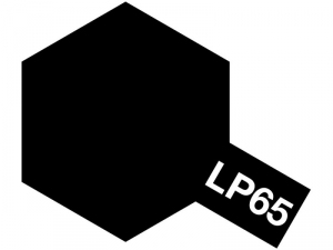 LP-65 Rubber Black - Lacquer Paint - 10ml Tamiya 82165