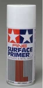 Fine Surface Primer L for plastic and metal - White 180ml