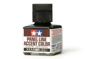 Panel Line Accent Color Dark brown - Tamiya