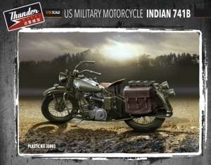 US Military Motorcycle Indian 741B Thunder Model 35003 in 1-35