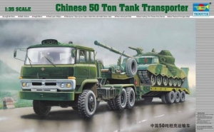 Chinese 50 Ton Tank Transporter model Trumpeter in 1-35