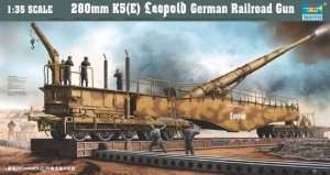 Rail road gun 280mm K5 (E) Leopold in scale 1:35
