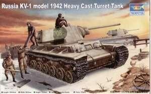 Model hevy tank KV-1 model 1942 Trumpeter 00359