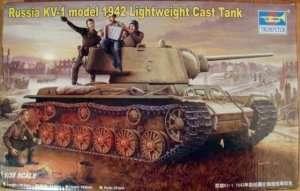 Heavy tank KW-1 model 1942 lightweight cast turret trumpeter 00360