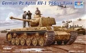 German heavy tank Pzkpfw. KW-1 Trumpeter 00366