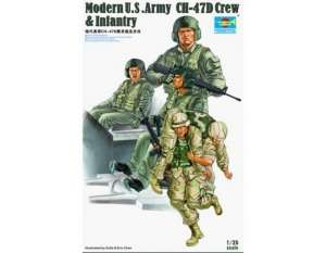 Modern U.S. Army CH-47D Crew and Infantry in scale 1-35