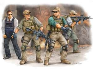 PMC in Iraq 2005 - VIP Security Guards - in scale 1-35