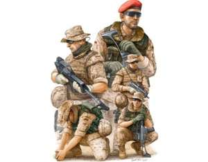Modern German ISAF Soldiers in Afghanistan - figures set in scale 1-35