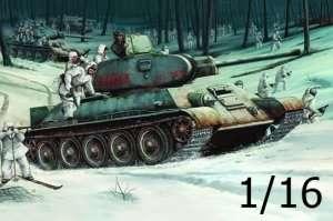 Soviet Tank T34/76 model 1942 in scale 1-16